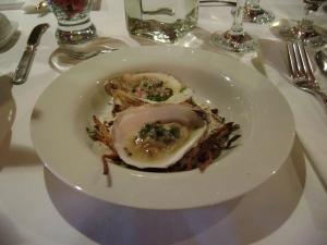 Amuse Bouche: Colville Bay Oysters Lemongrass and Shallot Mignonette