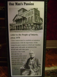 Mr. Jamieson purchased the contents of the Niagara Falls Museum, the first museum in Canada.