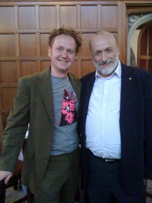 Jamie and Slow Food Founder Carlo Petrini