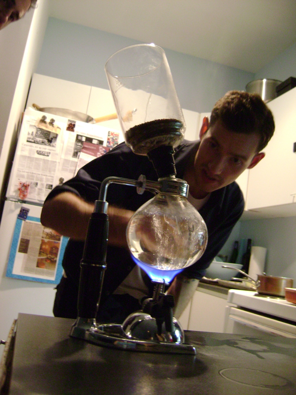 Sam James and his special Siphon Coffee
